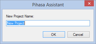 Create a new project on Pihasa Assistant